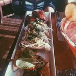 Ribs/ Shrimp tacos/ Qual and french toast