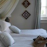 Twin bed suite at Rookwood House.