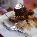 Sticky toffe pudding at the Red House.