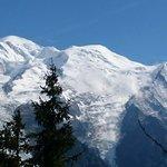 Le mont blanc vu du chemin du planpraz