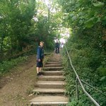 76 steps down to the private beach