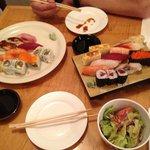 Diverse Sushi Auswahl