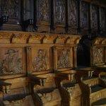 Sillar del coro de la Catedral de Santiago (en San Martín Pinario)