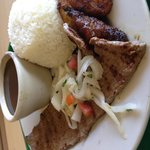 Steak with Rice and Peas
