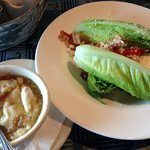 Wedge salad and French Onion Soup