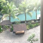 The view of the pool from our room