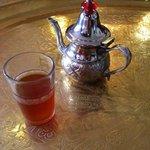Fresh peppermint tea.  Very enjoyable
