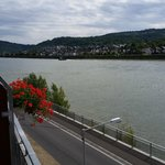 Great view, you could practically dive into the Rhine from the balcony