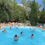 pool, waterslides and play ground