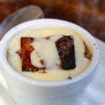 Delicious bread pudding at the English Restaurant