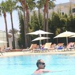 Widok z basenu