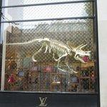 Louis Vitton Flagship Store Window, Avenue des Champs Elysees, Paris, France