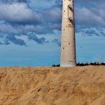 Lighthouse near hotel