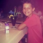 My son wins a childs cocktail at The Rainbow