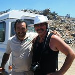 Our driver Vangelis and Mike