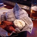 Finnish beer with Hot wings