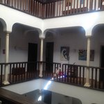 Inside the hotel - inner courtyard