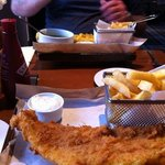 fish and chips-well presented but disappointing!