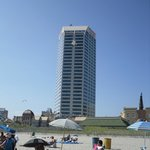 vue de l'hôtel de la plage