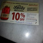 Got a coupon for ole smokey