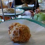 Roasted pepper and onion scone