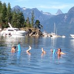 Swimming in Desolation Sound, beautiful rustic BC coastline