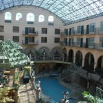 Pool from glass elevator