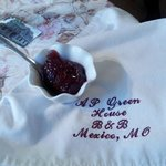 Homemade preserves and embroidered napkins were just a a few of the special touches we enjoyed