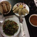 Thali and Momo side dish