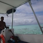 guide Ramon on snorkel tour