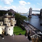 View of the Tower of London/Tower Bridge/River Thames from our balcony