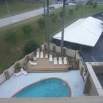 Pool area, seen from window of #624