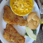 Fish with Mac 7 Chesse