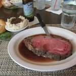 My prime rib this year, medium rare (not always available so ask).