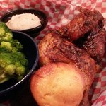 Barbecue chicken and sides