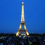 Eiffel Tower at night 8-2014
