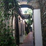 Front door through the alley