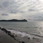 Malecón del hotel hacia la playa