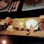 The cheese board was an excellent, light app with our wine!