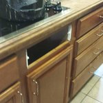 cabinet facing missing