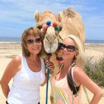 Photo op with the camel before the ride!