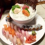 Sushi and sashimi dinner for two