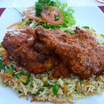 Delicious Tandoori Chicken ordered for lunch at the restaurant