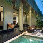 Private plunge pool & terrace at One-Bedroom Deluxe Pool Villa
