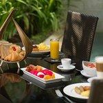 Private in-villa breakfast at guest's request