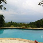 A view from the pool at Lago Vista