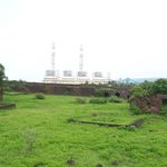Ruined Jaigad Fort & a pvt power company in background