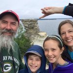 We Four SkrentWoods MIners Castle selfie Pictured Rocks NLS August 2014 IMG_7141
