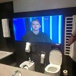 Bathroom, TV