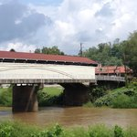 Covered bridge with Barbour Co. museum in background